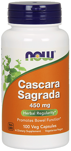 NOW Cascara Sagrada, Каскара Саграда 450 мг - 100 капсул