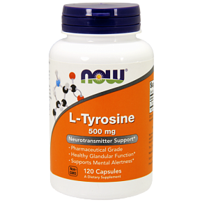 NOW L-Tyrosine, L-Тирозин 500 мг - 120 капсул