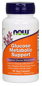 NOW Glucose Metabolic Support, Поддержка Метаболизма Глюкозы - 90 капсул