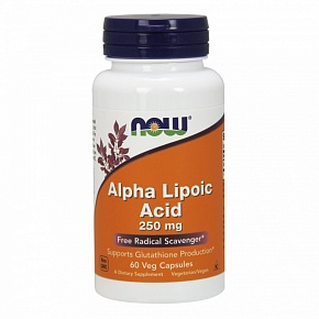 NOW Alpha Lipoic Acid, Альфа-Липоевая Кислота 250 мг - 60 капсул