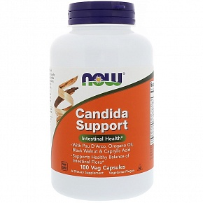 NOW Candida Support, Кандида Саппорт - 180 капсул