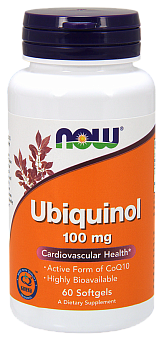 NOW Ubiquinol, Убихинол 100 мг - 60 капсул