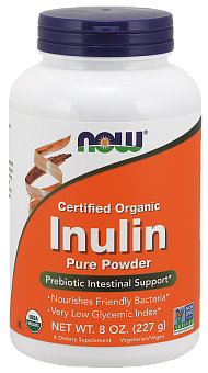 NOW Inulin Prebiotic FOS, Инулин Пребиотик Порошок - 227 г