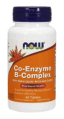 NOW B-Complex Co-Enzyme, Ко-Энзим Б-Комплекс - 60 капсул