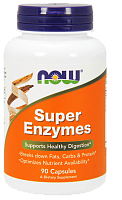 NOW Super Enzymes, Супер Энзимы - 90 капсул