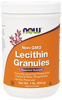 NOW Lecithin Granules, Лецитин Гранулы - 454 г