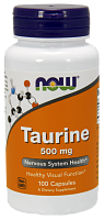 NOW Taurine, Таурин 500 мг - 100 капсул